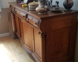 Solid wood buffet server matches table