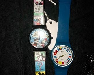 Disney watch and a ———- watch