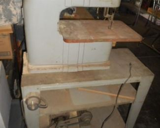 Vintage Band Saw with stand