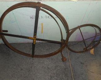 Vintage sewer rodding equipment