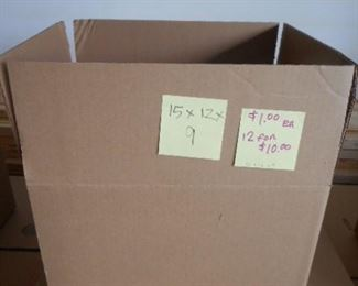 "15"" x 12"" x 9""  boxes by the bundle"