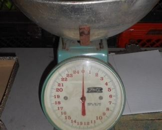 Vintage scale with bowl