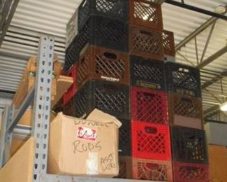 Plastic  crates available.  Ask about bulk rate prices
