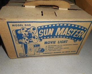 Vintage Movie Camera  lights