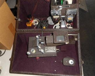 Movie film camera editing  equipment