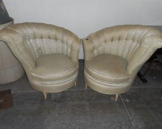 Vintage art deco  chairs.  Offers being taken.