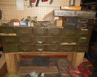 Vintage Industrial  storage  box with 18 drawers
