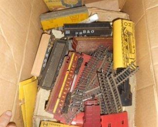 HO  scale model railroad  set