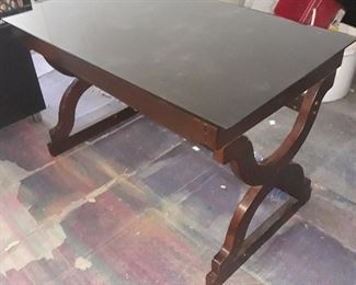 Glass top cover table