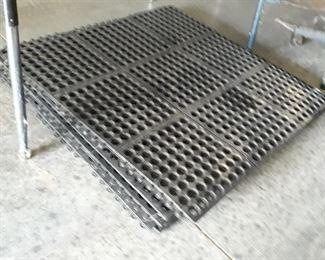 3' x 3' rubber floor Matt's,  six available.