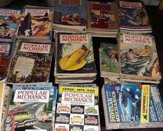 Popular Mechanics magazines  , 1930s, 1940s, and 1950s