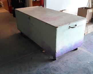 Packing Crate, Storage chest, tool chest, on wheels