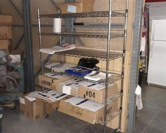 """Metal wire storage rack on wheels  48""""  x  18""""  x 6'"""
