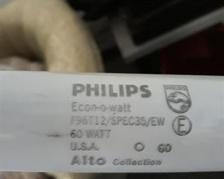 "Phillip's 96""  florescent  light bulbs, new old stock.  60 watt"