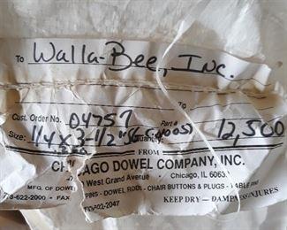 "Dowel pins  in bulk, 1/4"" x 3 1/2"""