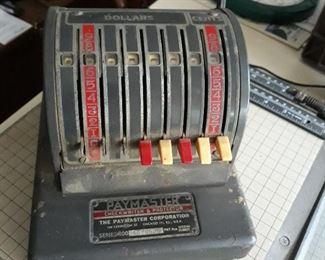 Check writing/ printing  machine