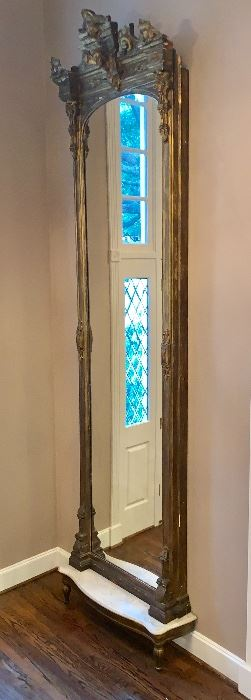 "Antique French Pier Mirror (Approx. 13' x 44"")"