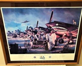 Flying Tigers Autographed Poster