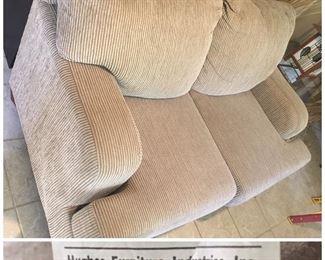 Hughes tan love seat