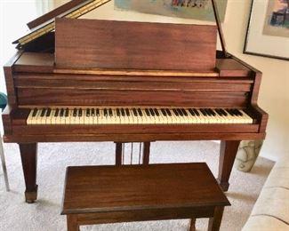 Baby Grand Piano mahogany with bench