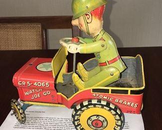 antique metal GI Joe toy