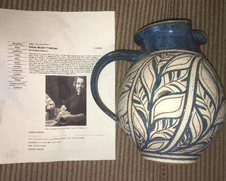 Susan Brown Freeman hand thrown pottery pitcher
