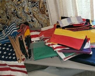Large flag collection