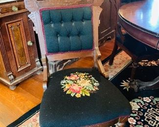 Eastlake Chairs Needlepoint Seats