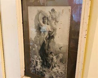 Tons of Antique Framed Artwork