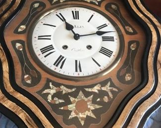 French inlay and fois bous wall clock $250