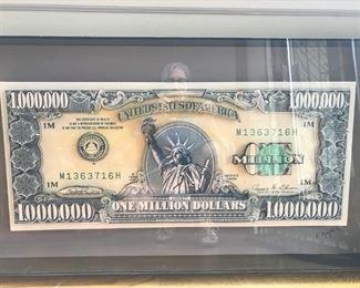 One Million Dollar 3D art collage  $300