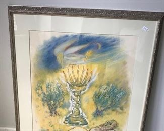 Judaica lithograph by Rubin $150