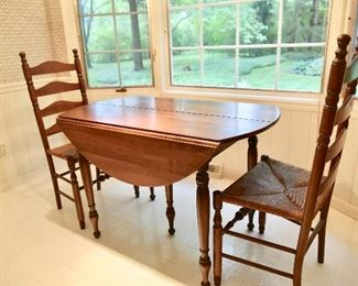 Another View of WILLETT Marblehead Cherry Dropleaf Dining Table (Shown Without 2 Leaves)