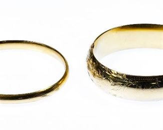 14k Gold Hinged Bangle Bracelets