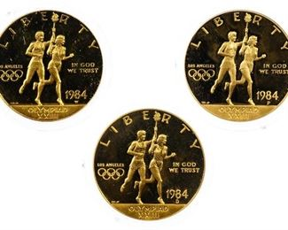 1984 1984 D 1984 W 10 Gold Olympic Commemoratives