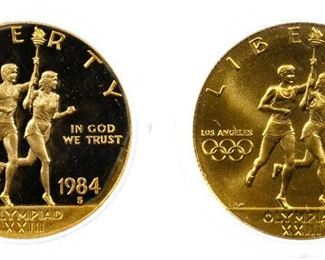 1984 S 1984 W 10 Gold Olympic Commemoratives