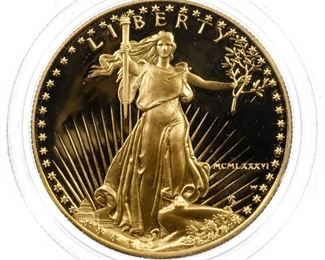 1986 W 50 Gold Proof American Eagle