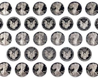 1987 S 1 Proof Silver Eagle Assortment