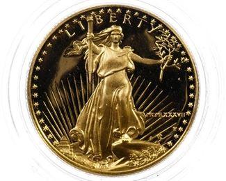 1987 W 25 Gold Proof American Eagle