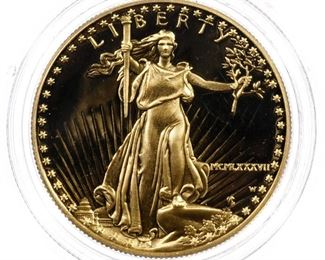 1987 W 50 Gold Proof American Eagle