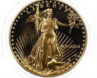 1989 W 50 Gold Proof American Eagle