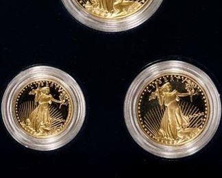 1990 W American Eagle Gold Proof Set