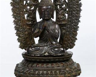 Asian Sino Tibetan Bronze Buddha Figure