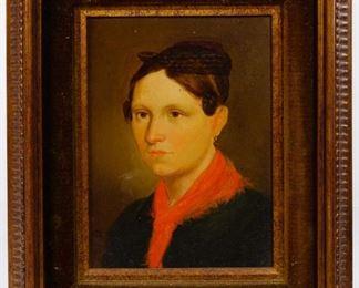 Attributed to Josef von Fuhrich European 1800 1876 Portrait of a Bride Oil on Board