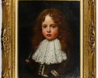 Attributed to Nicholas de Largilliere French 1656 1746 Oil on Canvas