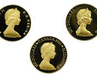Canada 100 Gold Proof Coins