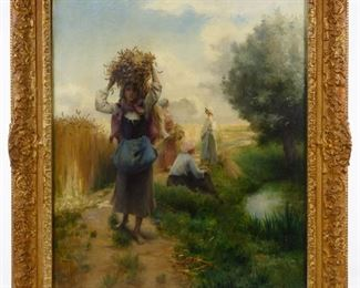 Georges Francois Laugee French 1853 1937 Oil on canvas