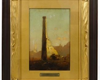 John Francis Murphy American 1853 1921 Old Ruins Oil on Canvas