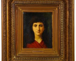 Jean Jacques Henner French 1829 1905 Oil on board