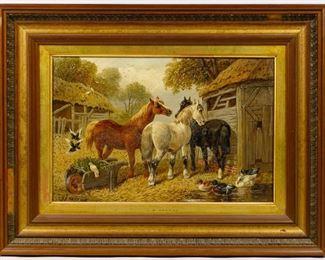 John Frederick Herring Jr. British 1815 1907 Oil on Canvas